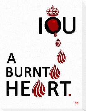 I O U A BURNT HEART... by ShubhangiK