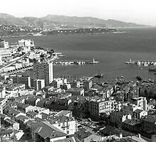 BW Principality of Monaco  the port of Monte Carlo 1970s by blackwhitephoto