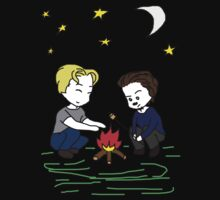 Steve & Tony Camping Adventure SD Tee by BegitaLarcos