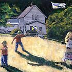 Farm Kids &amp; Kites by Randy Sprout