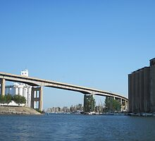 Buffalo Skyway and City Ship Canal by Ray Vaughan