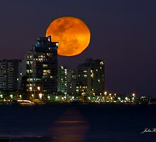 Full Moon Rising, Gold Coast, Queensland, Australia by Julia Harwood