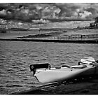 Clevedon a View of the Sea and Pier by Steve's Fun Designs