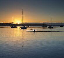 Sunrise at Marieville Esplanade, Sandy Bay, Tasmania by Chris Cobern