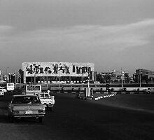 BW Baghdad Iraq tahrir square 1970s by blackwhitephoto