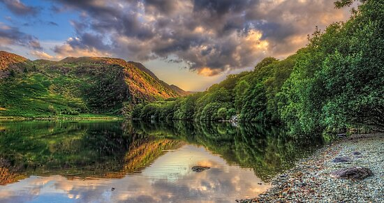 Llyn Dinas Sunset by timmburgess