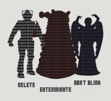 Delete. Exterminate. Don't Blink. by thefinalproblem