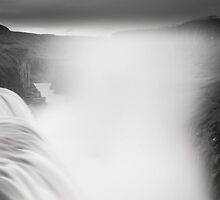 Gullfoss in black&white by JorunnSjofn Gudlaugsdottir