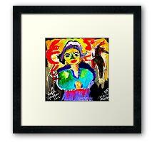 Art  Brut  Woman Framed Print