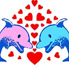 ۞»♥Frisky Dolphin Couples Splendiferous Prints, Cards & Posters♥«۞ by Fantabulous