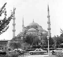 BW Turkey Istanbul The Blue Mosque 1970s by blackwhitephoto