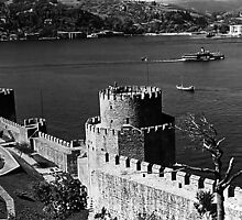 BW Turkey Istanbul Bosphorus fortress 1970s by blackwhitephoto