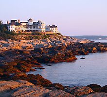 Luxury Accommodations on Cape Neddick by Linda  Makiej