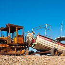 Boat, Crab fishing, Beached, Tractor, Trailer by Hugh McKean