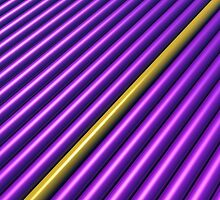 Purple/Yellow Stripe for iPhone by Lyle Hatch