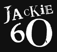 Jackie 60 Classic White Logo on Black by jackiefactory