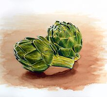 Artichokes Anyone by jsalozzo