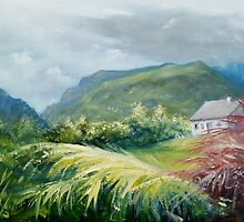 Gap of Dunloe - from the garden by Roman Burgan