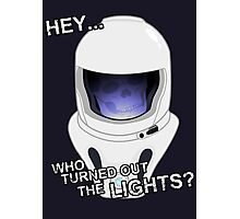 """Doctor Who - """"Hey Who Turned Out The Lights"""" (Vashta Nerada) Photographic Print"""