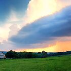 Barn and Sky Pano by KellyHeaton