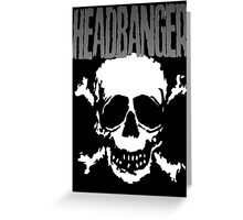 Headbanger Skull Greeting Card