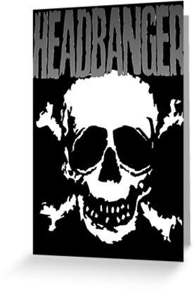Headbanger Skull by Luke Kegley