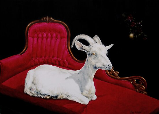 Reclining Goat by secretplanet