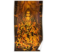 Buddha. Fire of meditation Poster
