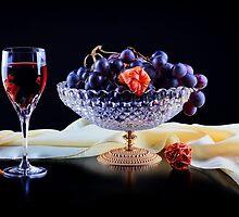 Still life with grapes by torishaa