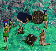 Mayan Maidens Emerging by cgrauke
