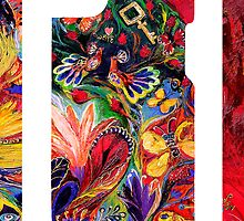 "iPhone case 2 based on my original artwork ""The Flowering"" by Elena Kotliarker"
