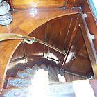 The steps inside Elissa Sailboat in Galveston Texas by aweddingtheme