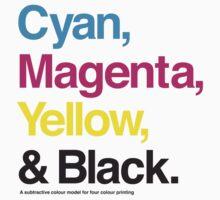 Cyan, Magenta, Yellow & Black Kids Clothes