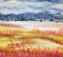 The Grasslands, watercolor by Anna  Lewis