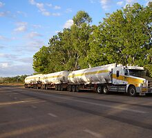 Fuel Roadtrain Delivers to Cape Crawford, Carpentaria Hwy. by Rita Blom
