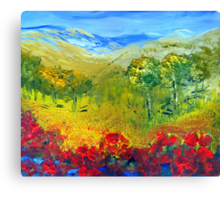 The colour of summer Canvas Print