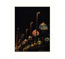 Blackpool at night Art Print