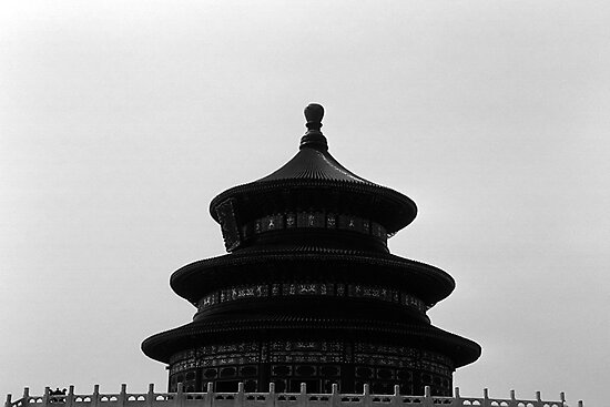 BW China Pekin Temple of Heaven 1970s by blackwhitephoto