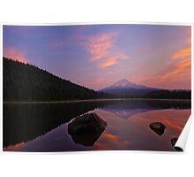 Trillium Lake Sunrise Poster