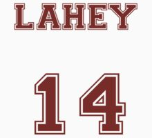 Isaac Lahey Jersey from Teen Wolf - Red Text by CaptainFlowers5