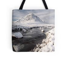 Glencoe winter landscape Tote Bag