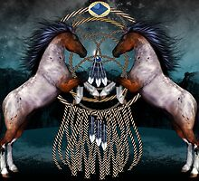 Native American Style Fantasy Ponies by Moonlake