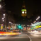 Whitehall at Night - London by Llewellyn Cass