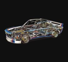 BMW E9 CSL BATMOBILE - Works Livery (Cutaway) by Sharknose