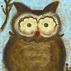 Owl Winterberry by Tara  Henry