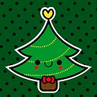 Adorable Kawaii Cartoon Christmas Tree Boy by hellohappy