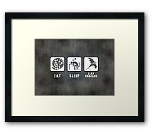 Eat, Sleep, Slay Dragons - Landscape Poster Framed Print