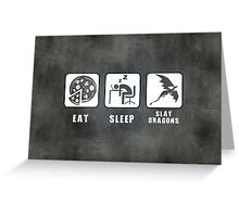 Eat, Sleep, Slay Dragons - Landscape Poster Greeting Card