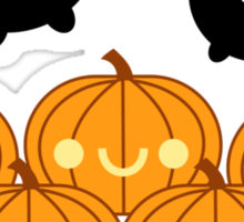 Halloween Adorable Kawaii Pumpkins and Bats Sticker