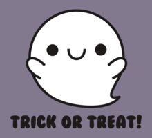 Halloween Adorable Kawaii Ghosts  by hellohappy
